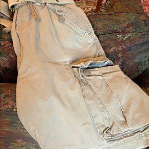 Men's cargo pants. Khaki size 32